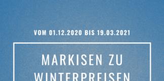 Markisen zu Winterpreisen bei Staal in Kiel und Plön